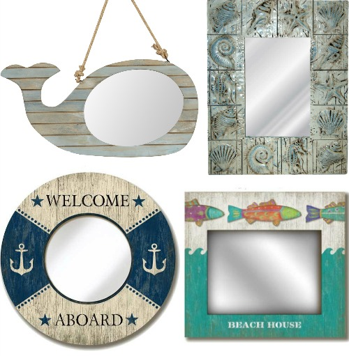 Whimsical Nautical Mirrors
