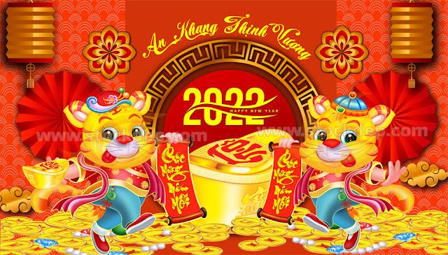 Bìa lịch block con hổ vàng 2022
