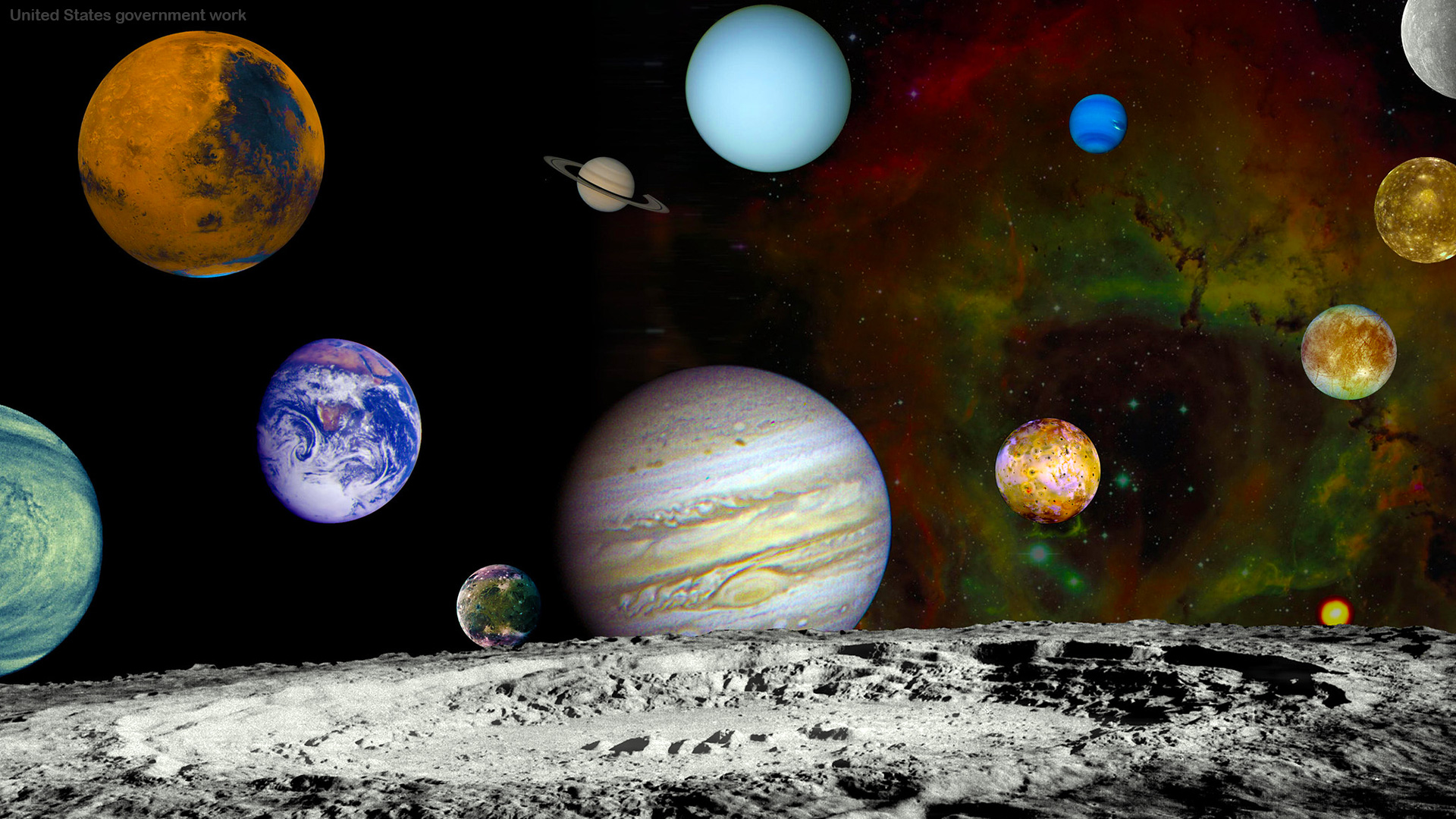 Free Solar System Background