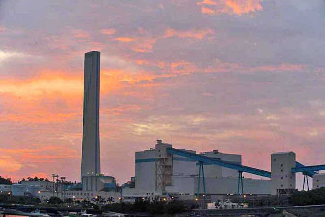 Kin Power-plant, Okinawa, skies, sunrise