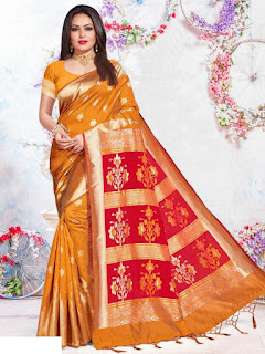 silk saree blouse design