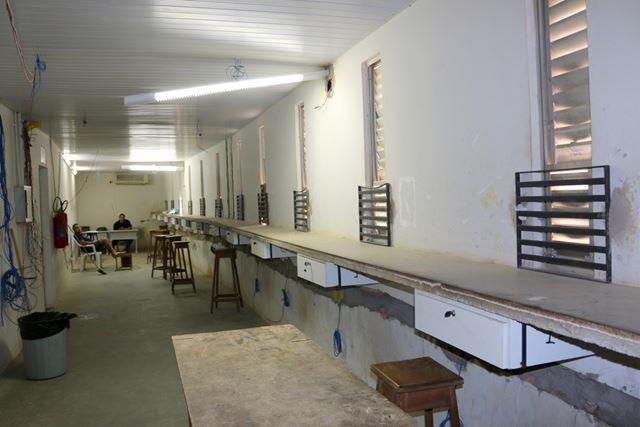 Obras de melhorias na área interna do Estádio Castelão, em São Luís