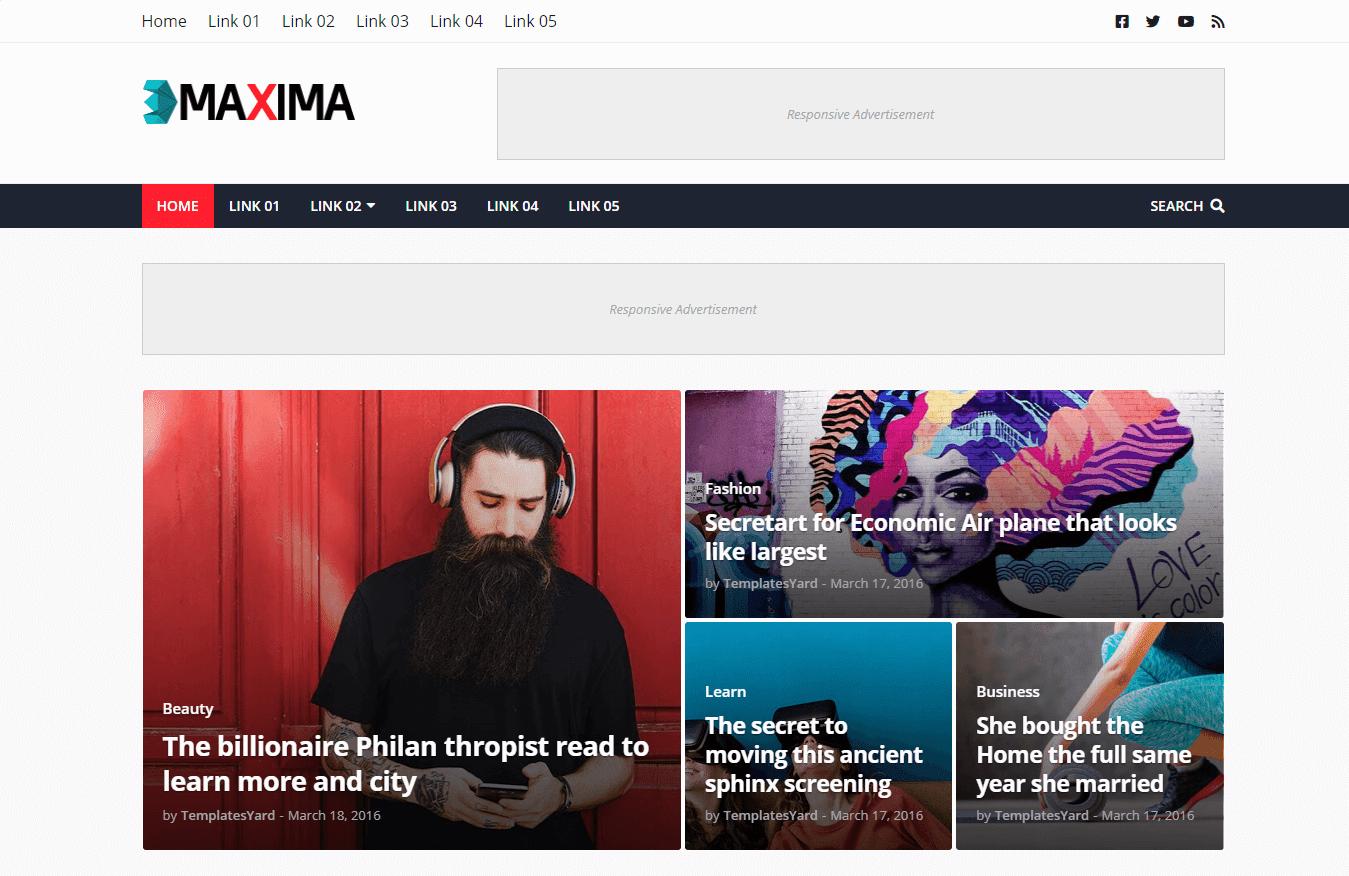 Maxima Blogger Template