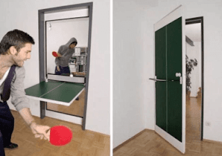 Furniture Unik Pintu + Meja Ping Pong