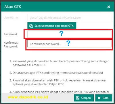 Solusi Mengatasi Password Atau Usernama Salah Pada Saat Login di Info GTK - Link Cek Sertifikasi Guru