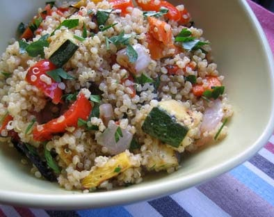 Grilled vegetable quinoa salad Recipe
