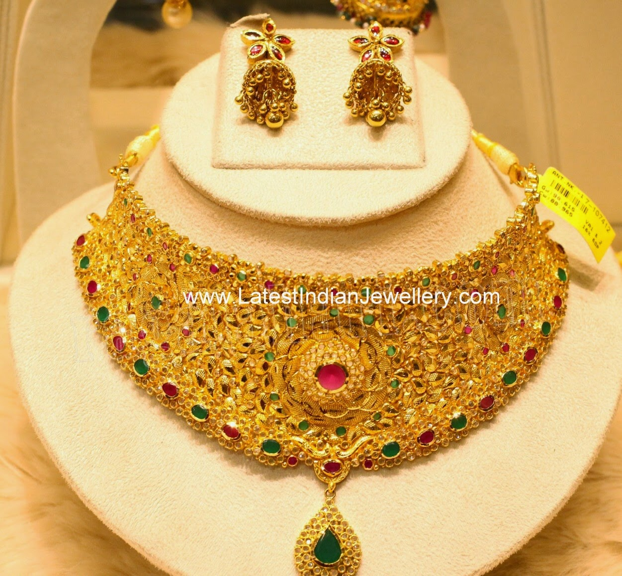 Indian Bridal Gold Choker Necklace