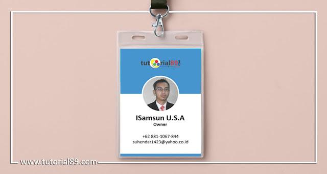 Cara mudah membuat ID card dengan photoshop