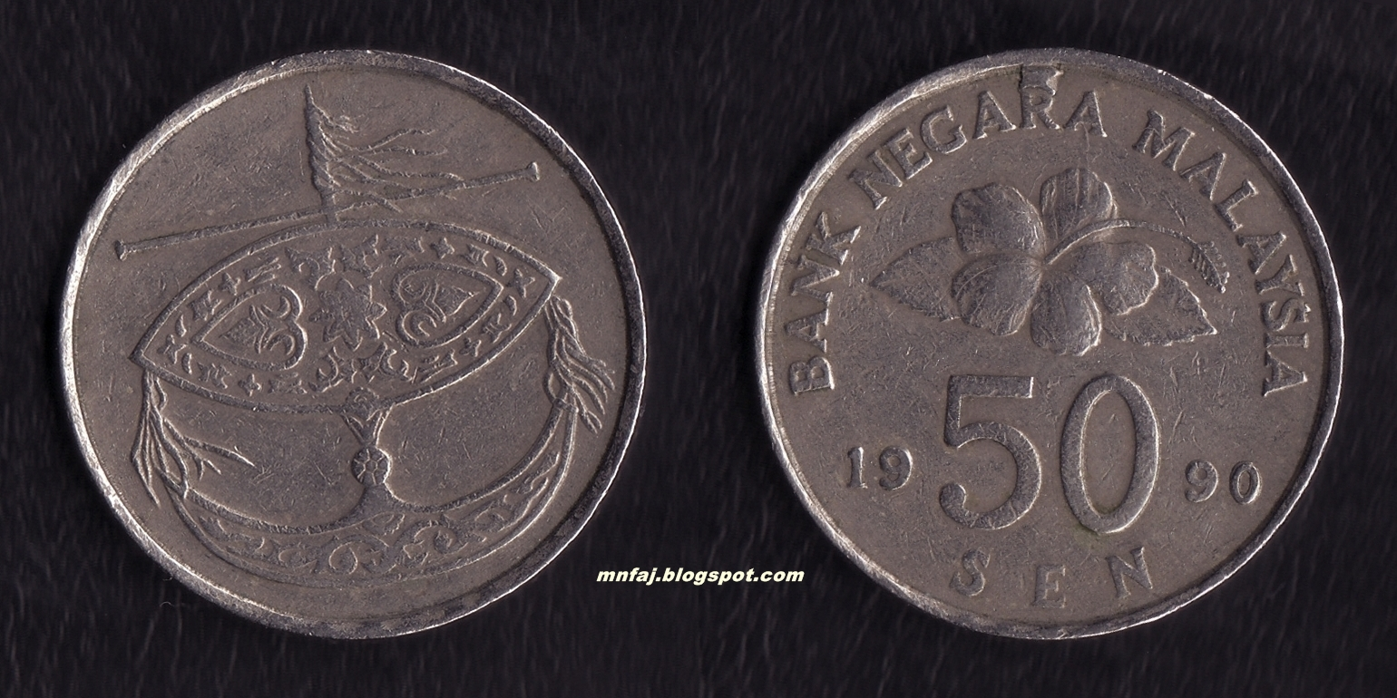 Mnfaj's Coin and Banknotes: 112  Malaysia 50 Sen 1990 Die