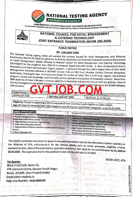 National Testing Agency - GVTJOB.COM