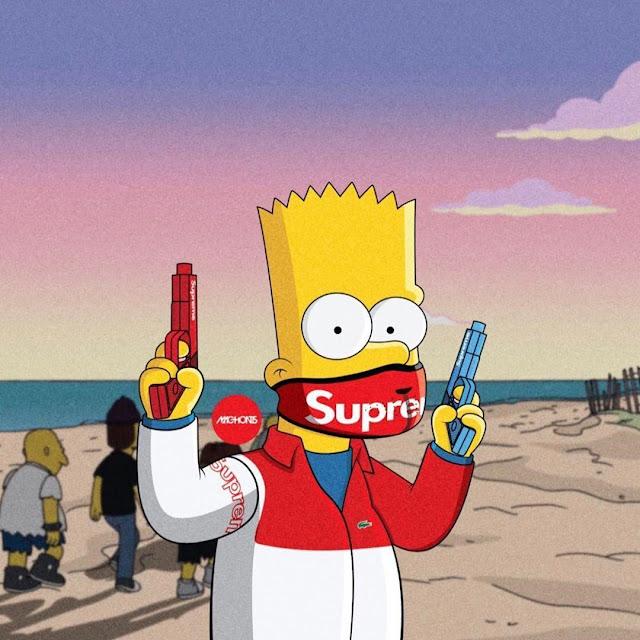 supreme bart simpson wallpaper