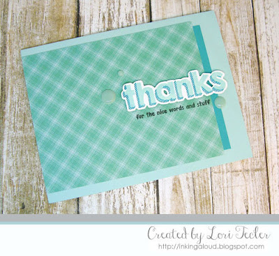 Simple Snarky Shadow Thanks card-designed by Lori Tecler/Inking Aloud-stamps and dies from Lil' Inker Designs