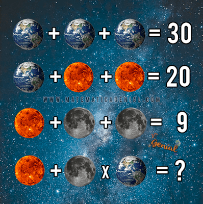 Desafio dos planetas! Quanto vale cada um?