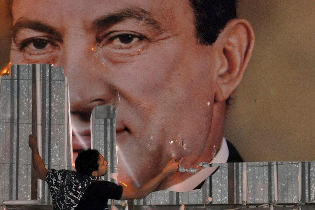 Mubarak poster in 2011