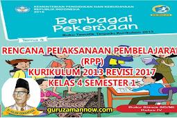 RPP KELAS 4 TEMA 4 SD/MI KURTILAS REVISI TAHUN PELAJARAN 2018 - 2019