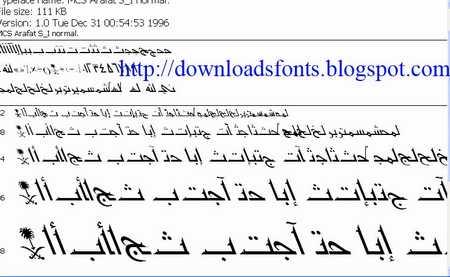 Arab Font MCS Arafat SI Normal Link Download Download Font