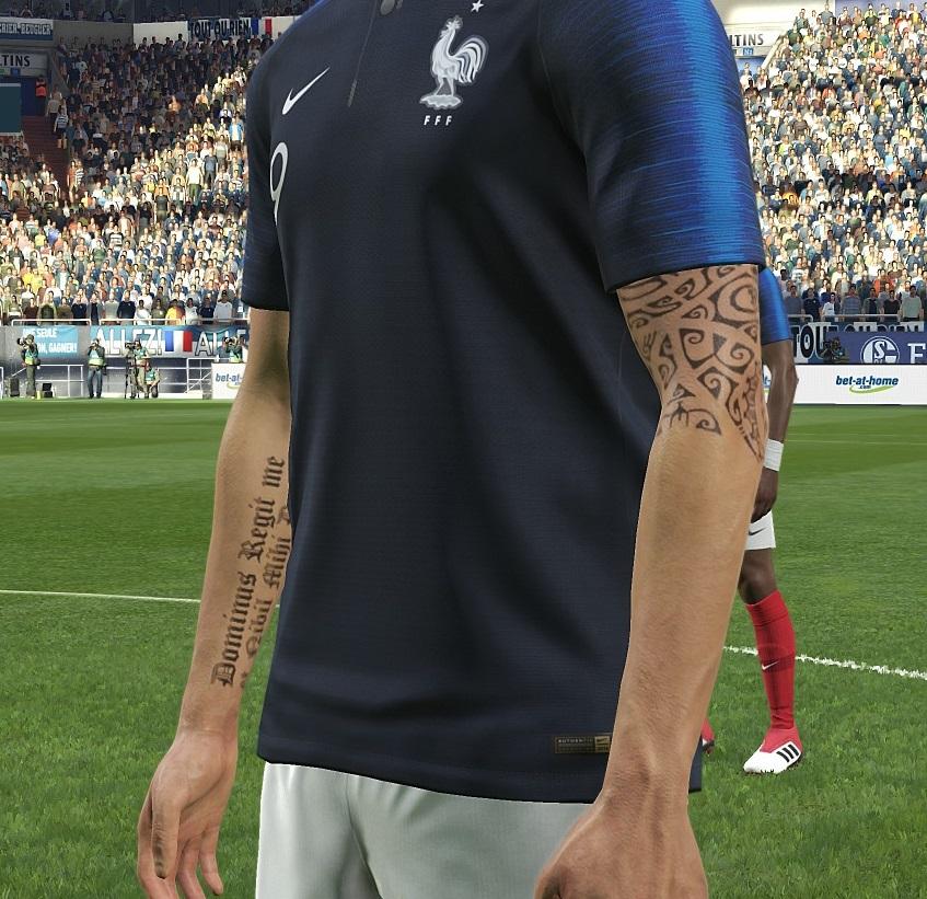 PES 2019 Tattoopack V8 By Sho9_6 ~ SoccerFandom.com
