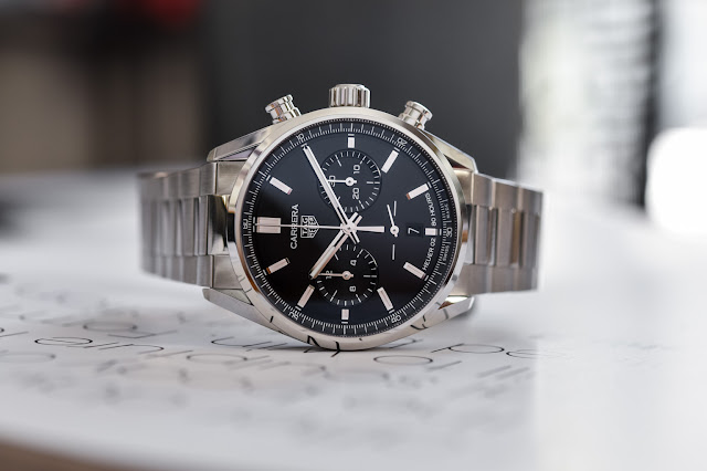 Review the 2020 TAG Heuer Carrera Chronograph 42mm Calibre Heuer 02 Black Dial Replica