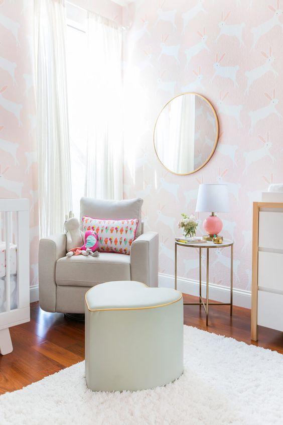 bunny themed nursery emily henderson
