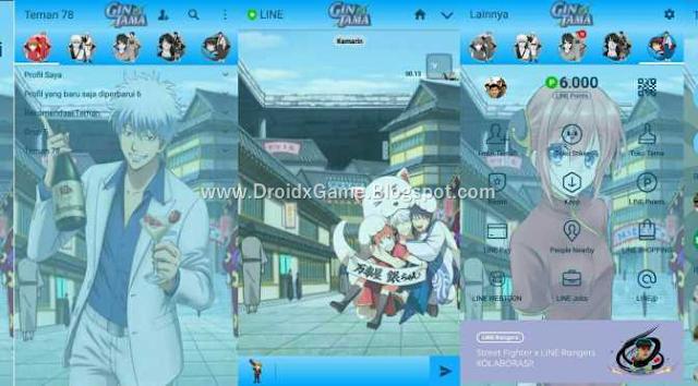 Download Tema Line Anime Gintama