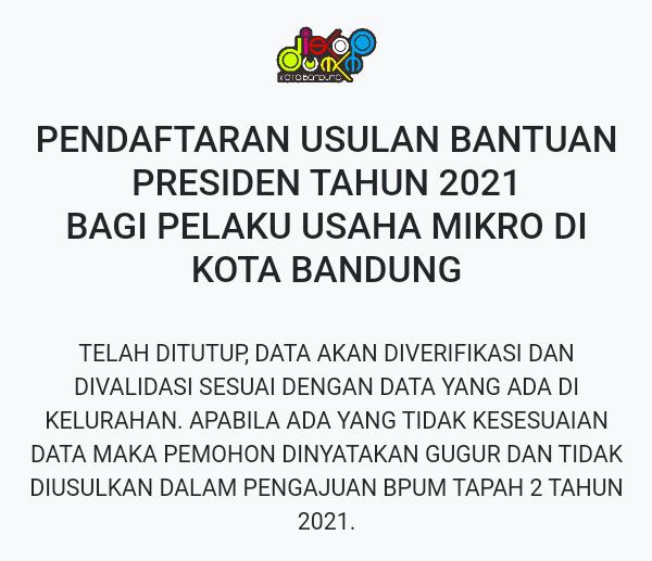 Pendaftaran BPUM telah ditutup