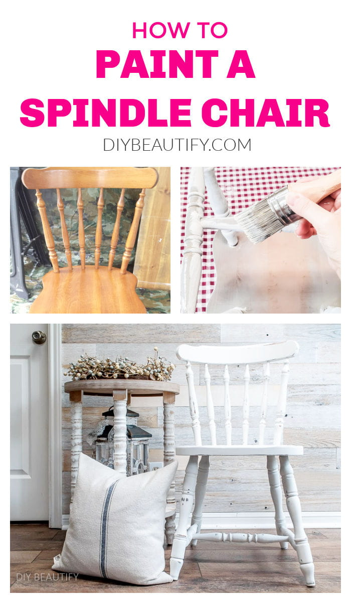 steps to paint a spindle chair