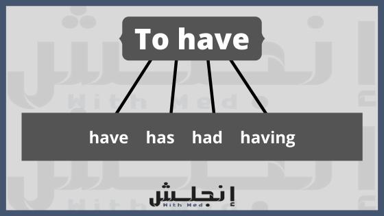 الافعال المساعدة في اللغة الانجليزية - حالات الفعل to have