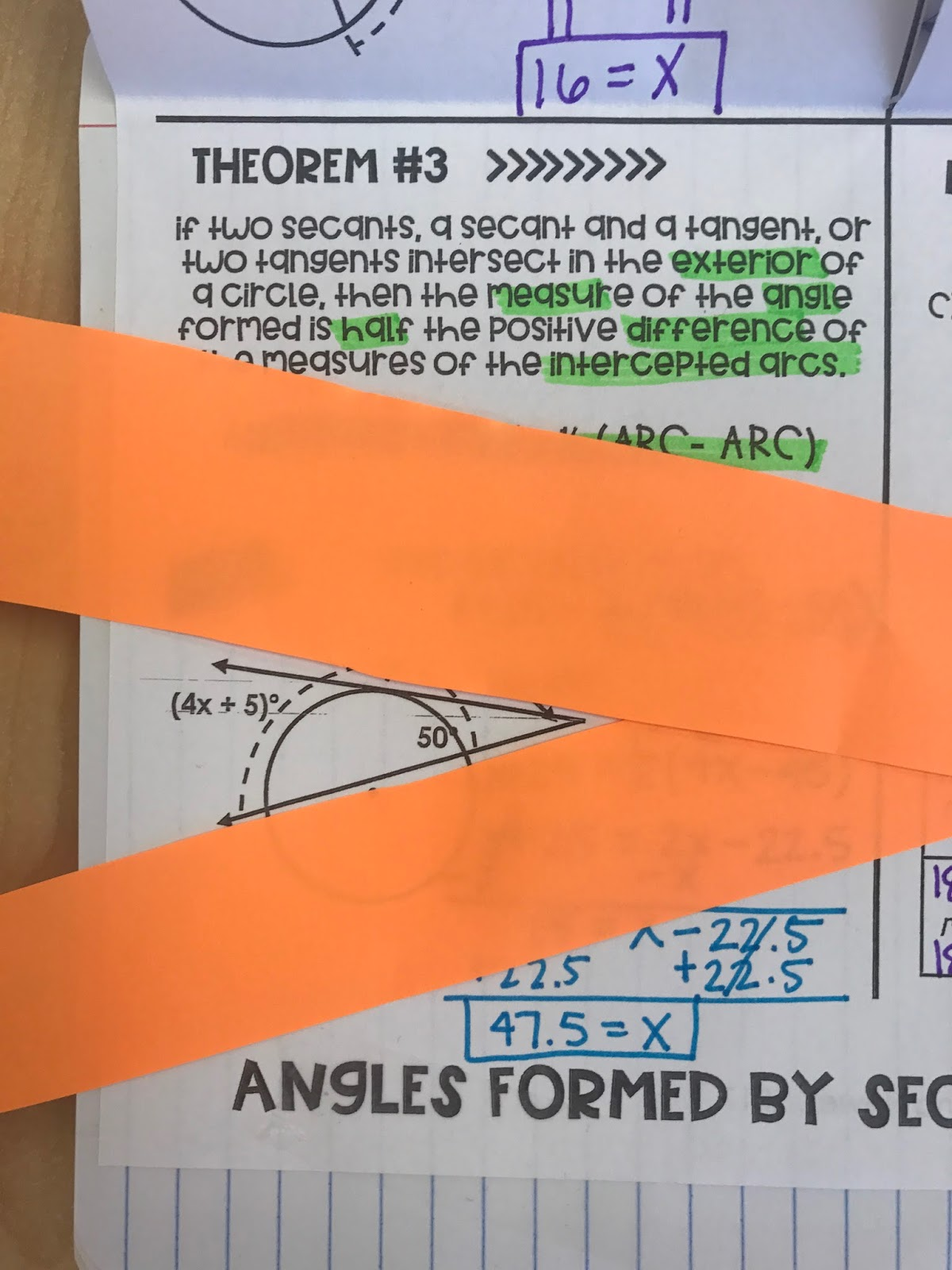 Angles Formed By Secants And Tangents