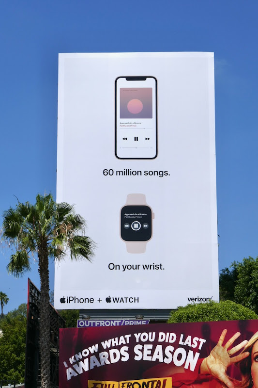 60 million songs Apple iPhone Watch billboard