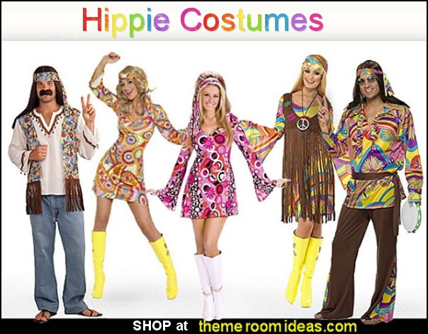 Hippie costumes Groovy Costumes Psychedelic Costumes  hippy  Costumes retro halloween costumes party costumes