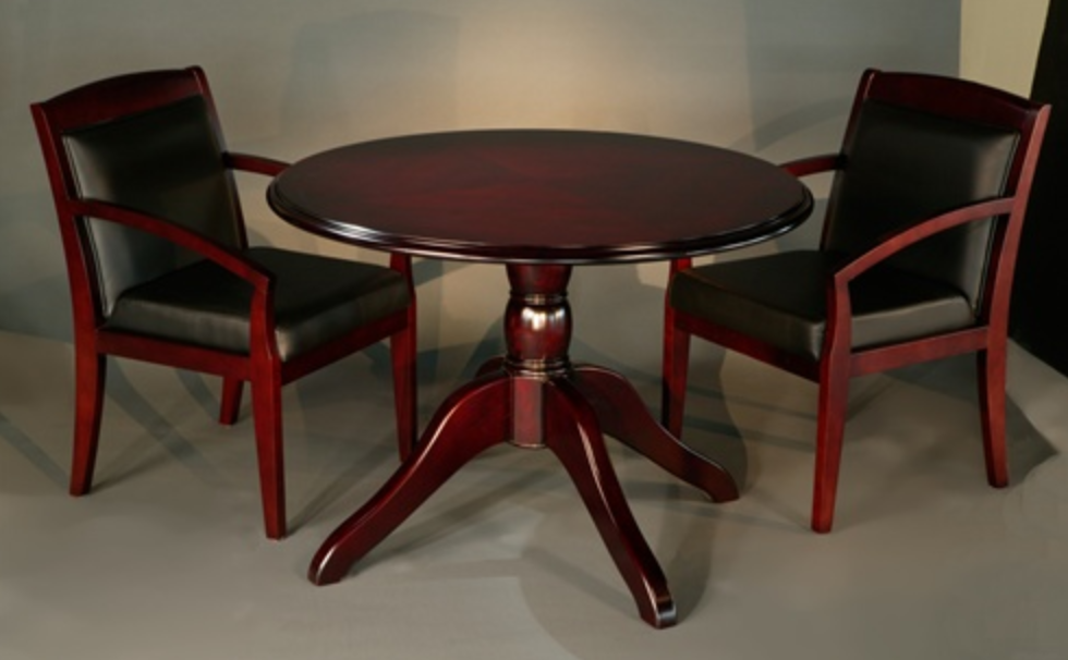 Toscana Round Wood Conference Table by Mayline