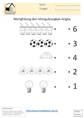 Lembar Kerja Paud Menghitung dan Menghubungkan Angka (9)