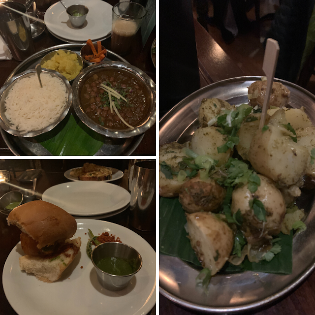 Dishoom curry, chippy button and gunpowder potatoes