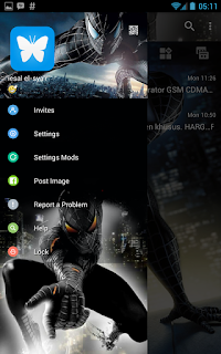 BBM Whatsapp Spiderman V3.0.1.25 Apk Terbaru