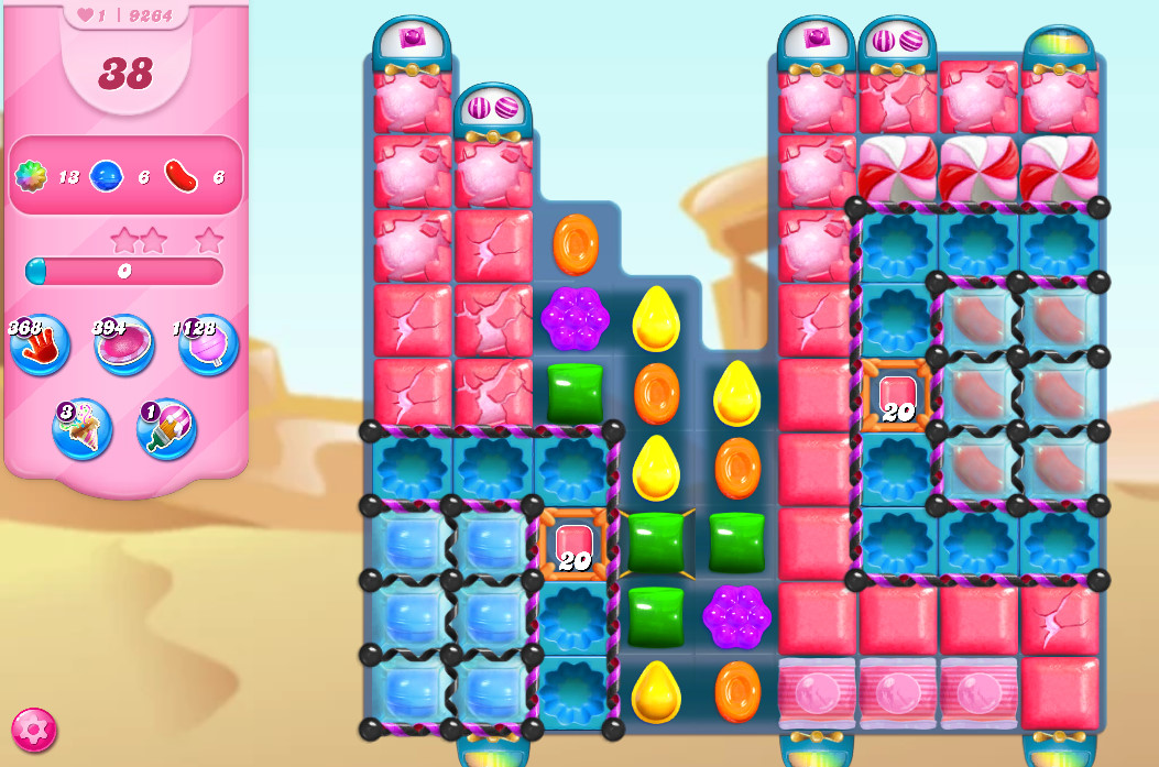 Candy Crush Saga level 9264