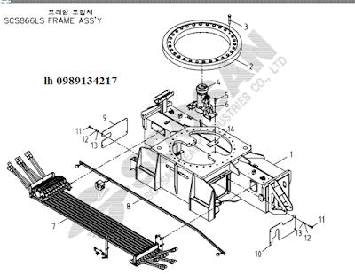 Quay toa, khung bệ của Cẩu soosan 8 tấn SCS866-SCS886-SCS887