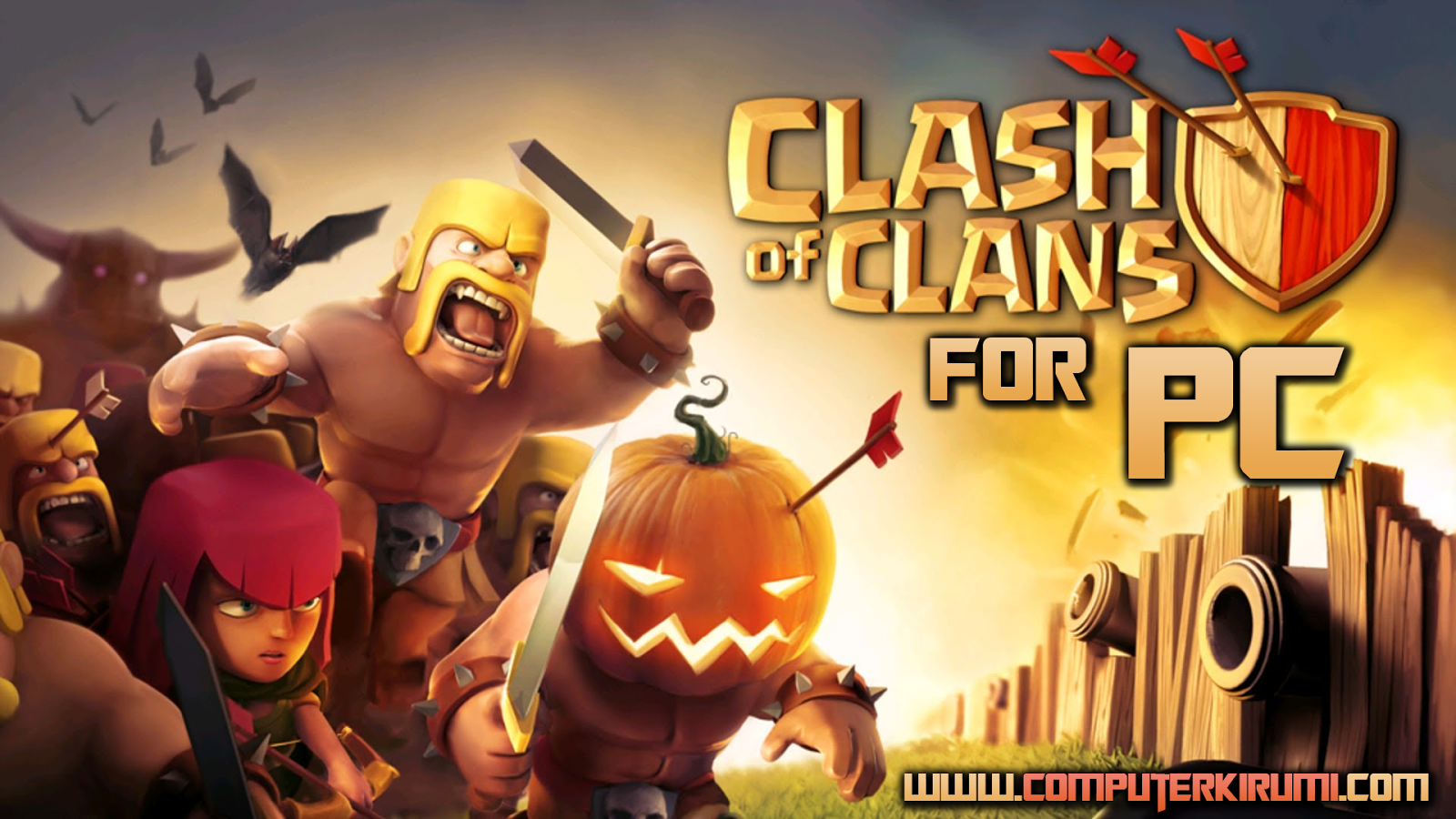 [No Bluestacks] Download Clash Of Clans For PC Free [ Windows xp,7,8,8.1 - Android ]