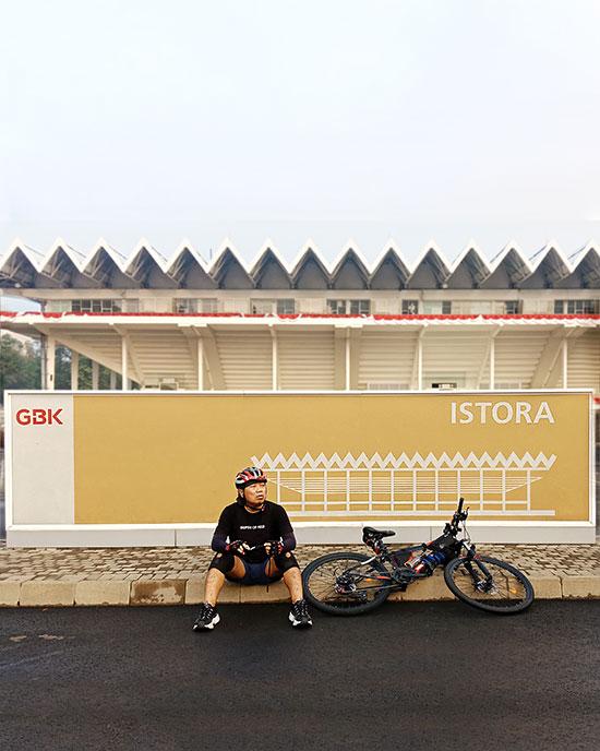 Wisata gowes bersepeda di Jakarta. (Dokpri)