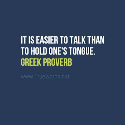 It is easier to talk than to hold one's tongue