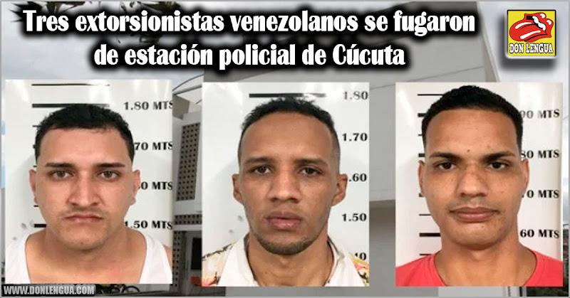 Tres extorsionistas venezolanos se fugaron de estación policial de Cúcuta
