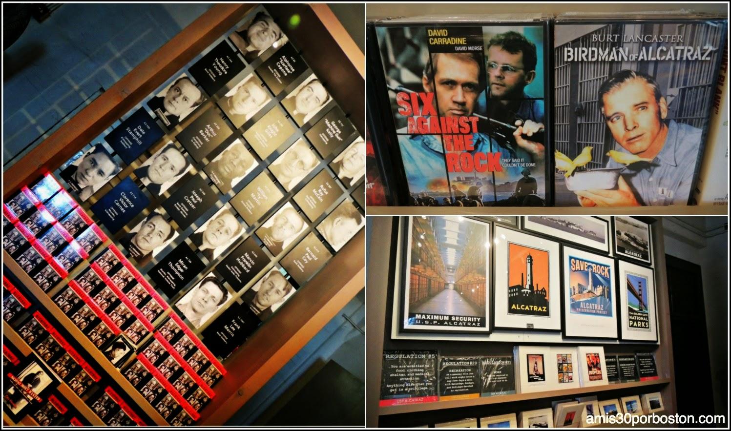 La Prisión de Alcatraz: Fotos de los Presos en la Tienda de Recuerdos