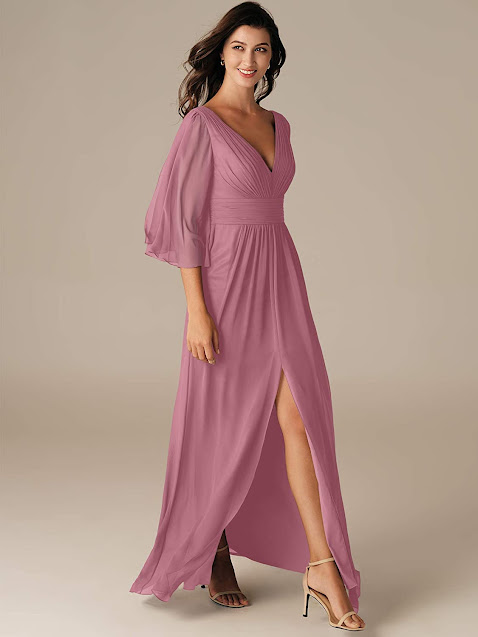 Best Chiffon Bridesmaid Dresses With Sleeves
