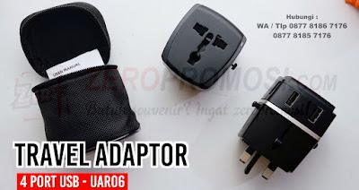 Travel Adapter 4 Port USB, Travel Adapter Universe USB, Souvenir cinderamata universal travel adapter, Souvenir Promosi Tour and Travel, Power Converter Adaptor, steker listrik souvenir UAR06