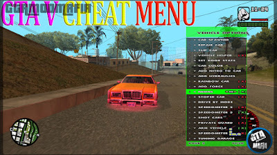 GTA 5 Cheat Menu For GTA San Andreas Pc