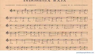 Lagu Indonesia Raya cipta W.R. Supratman - berbagaireviews.com
