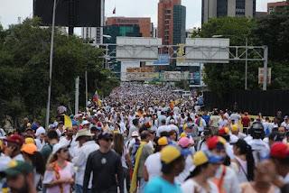 objetivos oposicion marchas dias caracas venezuela