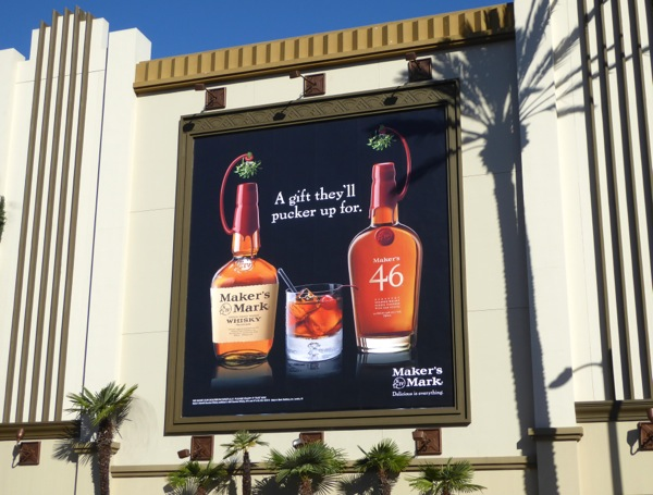 Makers Mark gift pucker up for billboard