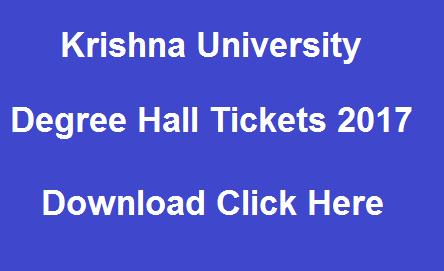 Krishna University ug hall tickets 2017 manabadi
