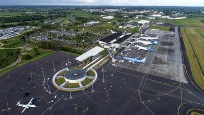 Terminal 1 et terminal 2 sur piste attérissage