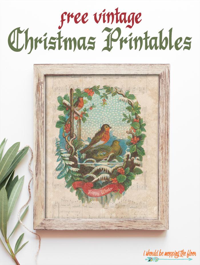 Free Vintage Christmas Printables